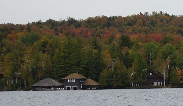 Syracuse U's Minnowbrook Conference Ctr from Kayak