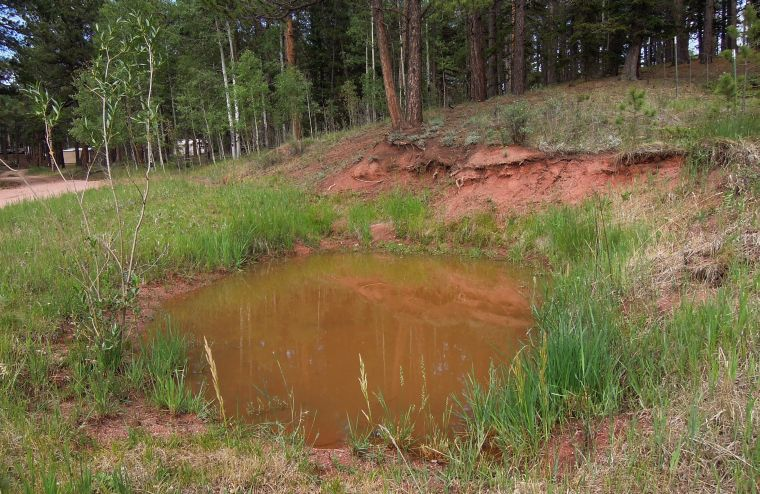 Water hole back to normal after cloud bursts